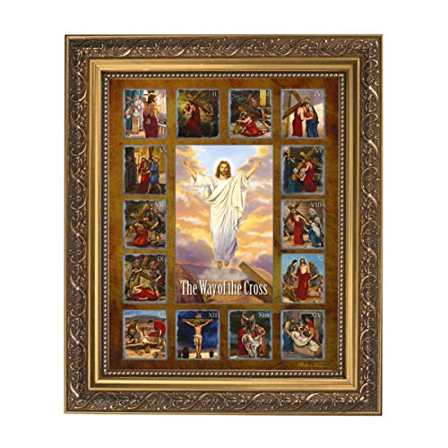 Framed Wall Art Stations Of The Cross Framed Print, By Michael Adams, 13 Inch (H) x 11 Inch (W)