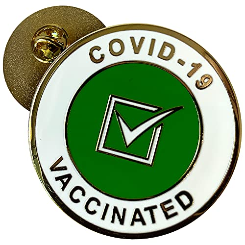 Covid Vaccinated Pin - Proudly Wear Your I Am Vaccinated Pin - This Elegant Covid Vaccine Pin is Perfect for Anyone who is Fully Vaccinated - Covid-19 Vaccinated Button Made of Enamel