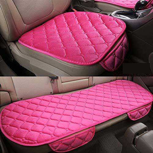 YGGB Autositzbezug Plüsch Autositzkissen rutschfest Atmungsaktiv Universell Kratzfest Bankschutzmatte Für Kinder- und Babyautositze, Pink