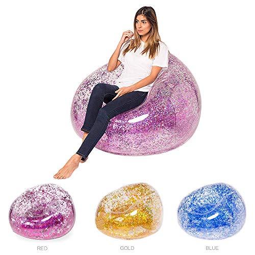 ZAIZAI Aufblasbares transparentes Sofa, Schlafzimmer-Liege, Luftkissen Sofa Sessel