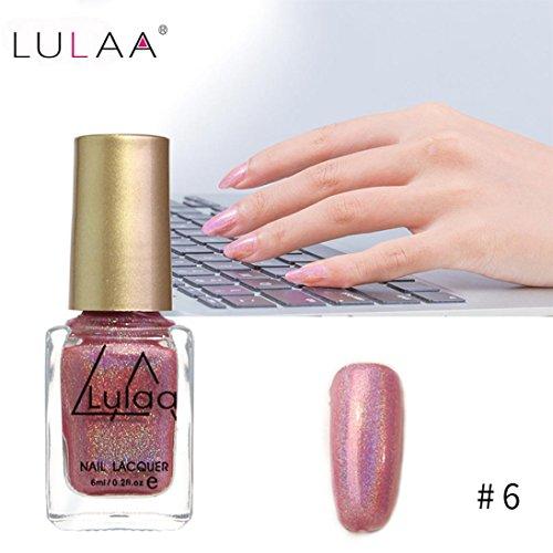 IGEMY LULAA 10ML Farbe Gel Nagellack Nail Art, Gelpoliermittel UV LED Gelpoliermittel (F)
