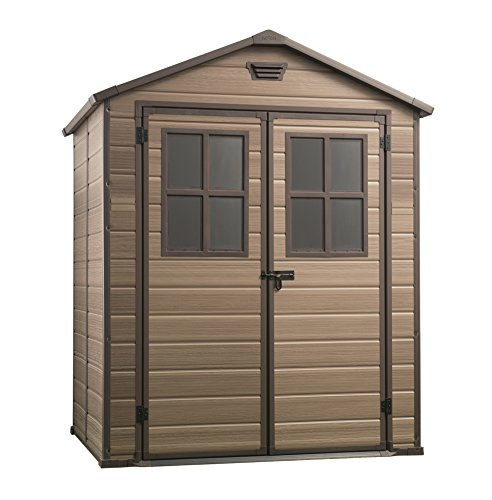Photo of Keter Scala Outdoor Plastic Garden Storage Shed, Brown, 6 x 5 ft