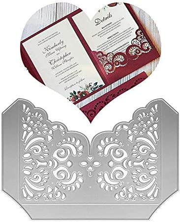 Metal Flower Wedding Invitation Card Base Cutting Dies Laser Cut Invitations Die Cuts Embossing product image