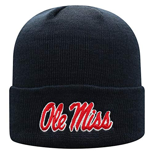 Top of the World Mississippi Old Miss Rebels Men's Cuffed Knit Hat Team Icon, One Fit