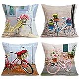 Best Flower Pillows - Qingqingo Decorative Pillow Covers Cotton Linen Spring Flower Review