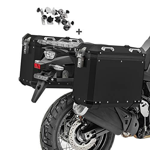 Juego de Maletas Laterales Aluminio para BMW F 800 GT / 850 GS GX-38-45 Negro