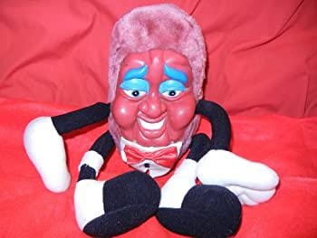 Vintage 1980 s Vintage California Raisins Plush Rubber Face Stuffed Doll Toy GREAT COLLECTIBLE - see condition notes