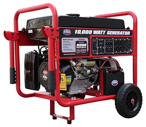 All Power America APGG10000, 10000W Watt Generator with Electric Start, Portable Gas Generator for Home Use Emergency Power Backup, RV Standby, Storm Hurricane Damage Restoration Power Backup, EPA Certified gas generator Standby