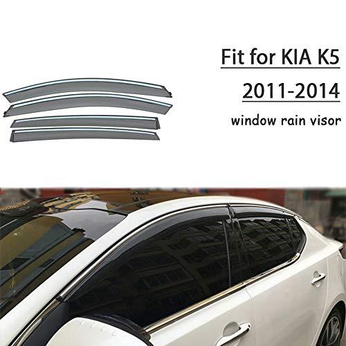 Piaobaige Deflector De Visera De Lluvia Y Sol para Ventana De Humo De Coche Abs para Kia K5 / Optima 2011 2012 2013 2014