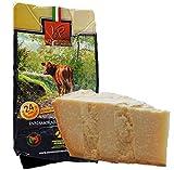 Parmigiano Reggiano DOP 'Vacche Rosse' 24/30 meses kg.1. Producido directamente por el Consorcio Vecche Rosse (Etiqueta Roja)