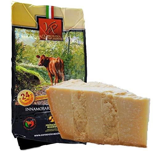 "Parmigiano Reggiano DOP \""Vacche Rosse\"" 24/30 meses kg.1. Producido directamente por el Consorcio Vecche Rosse (Etiqueta Roja)"
