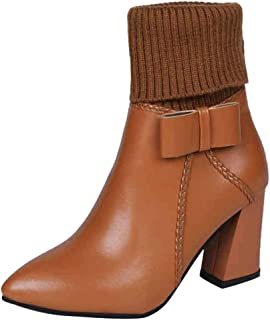 2019 New Shoes for Women,Women's Woven Ankle Bare Boots High Heel Casual Shoes Short Tube Booties