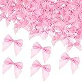 100 Pieces Pink Mini Satin Ribbon Bows Small...