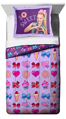 Jay Franco Nickelodeon JoJo Siwa Sweet Life Twin/Full Comforter and Sham Set, 2 Piece