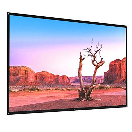 Beamer Leinwand, Crenova 4K 3D HD 16: 9 84 Zoll 186 x 105 cm Projektionswand für Heimkino und Freiluftkino