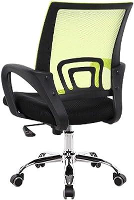 ZLSP Cadeira de escritório - Cadeira de escritório com apoios de braço - Encosto de malha, preto, tamanho 60 x 50 x 100 cm ou 23,4 x 19,5 x 39 polegadas (cor: preta)