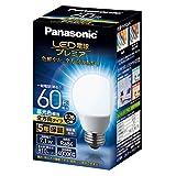 パナソニック LED電球 口金直径26mm プレミア 電球60形相当 昼光色相当(7.1W) 一般電球 全方向タイプ 1個入り 密閉器具対応 LDA7DGZ60ESW2