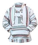 Del Mex Mexican Baja Hoodie Sweatshirt Pullover Jerga Surf Poncho Drug Rug (XX-large, Cabo)