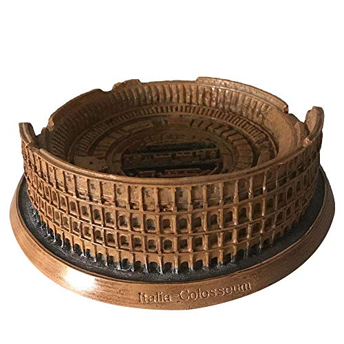LIUSHI Statues, Building Sculpture Crafts, World Landmarks, Home Decoration Ornaments,Desktop Collectibles Gift, Psychological Sand Table Accessories, Colosseum