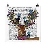 Bilderwelten Poster Vogelfänger - Hirsch mit Tauben