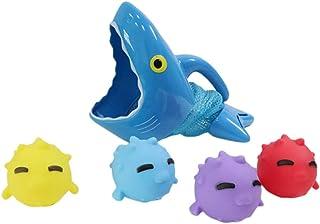 Toyvian 1 Set Bath Toy Bathtub Squeeze Toys Fishing Floating Toys Water Bathing Pool Fun Toys Kids Bath Time Play Set for ...