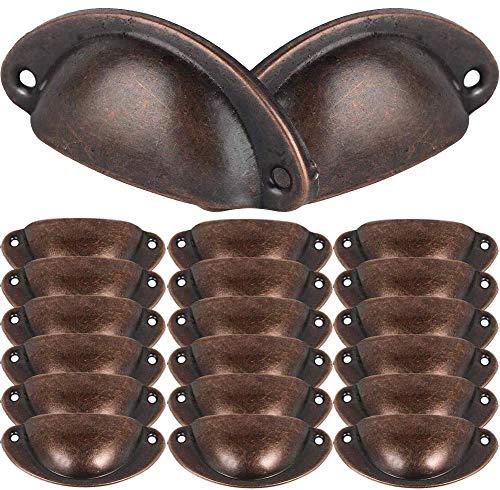 BESTZY 20Pcs 82mm * 36mm Shell Manopole del Cassetto Maniglia di Metallo Vintage per Porte Armadio Pomello per Fai da Te Mobili
