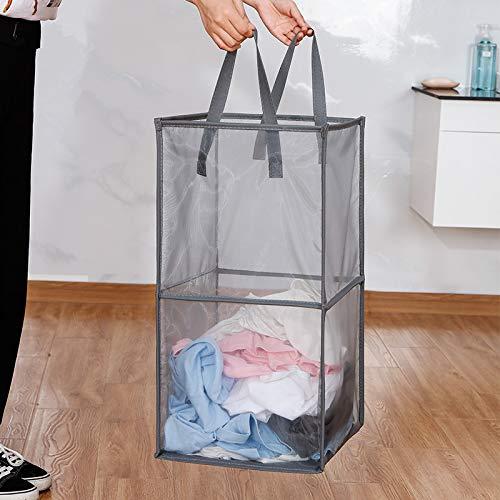洗濯物をためても、嫌なニオイがあまり発生しないので、数日おきに洗濯をする方にとくに◎。軽いので持ち運びも楽チンです。ただしメッシュタイプは中身がよく見えてしまうので、置き場を工夫した方が良いかも。