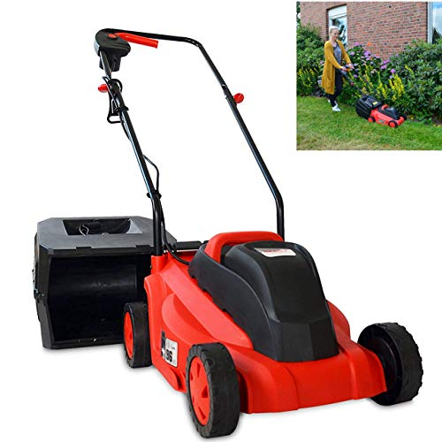 Hecht Brandneuer Elektrorasenmäher für einen schönen Rasen – Mit praktischen Tragegriff – Perfekt für jeden Garten – Verbesserte Räder und kraftvoller Turbo Motor (Rot)
