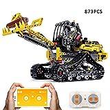 SMUOO Kit de construcción de Bloques de construcción de vehículos, 2.4G RC Excavadora de orugas eléctrica, Excavadora Kit de vehículos de construcción Bloques educativos Juguete de Regalo