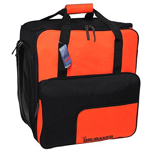 Brubaker Super Function 2.0 Skischuhtasche mit Rucksackfunktion Orange/Schwarz