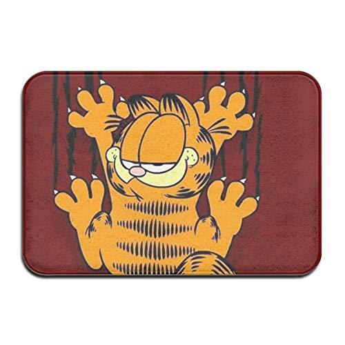 N\A Felpudo para Interior/Exterior Garfield Alfombrillas traseras de Goma Antideslizantes Alfombras de Regalo para la Entrada