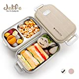 Jelife Bento Box Kinder Lunchbox Brotdose mit 3 Unterteilungen Zweilagig Edelstahlbehälter für...
