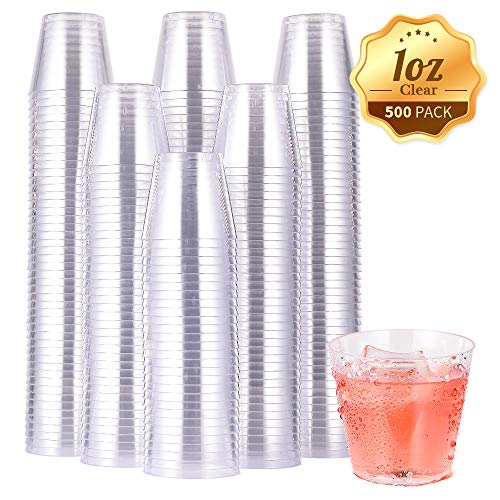 500 Pack Plastic Shot Glasses