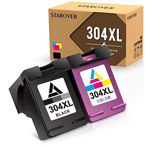 STAROVER 304XL Rigenerata HP 304 XL Cartucce d'inchiostro Compatibile per HP ENVY 5050 5032 5030 5020 5010 DeskJet 2620 2622 2630 2632 2633 2634 3720 3730 3733 3735 3750 3760 3762 (Nero & Tricolore)