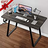 Grovelife Computer Desk Simple Style Desk for Home Office Writing Study Table PC Laptop Gaming Desk with[ Cable Management Tray ]and[ Headphone Hanger]-47-Inch, Mahogany