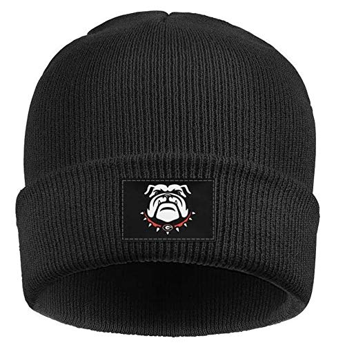 Mens Funny Bulldogs Knit Beanie Warm&Soft Winter Skull Hats