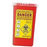 1Litro Sharps Container Bin Tatuaggio Biohazard Raccolta di Rifiuti Ago Box