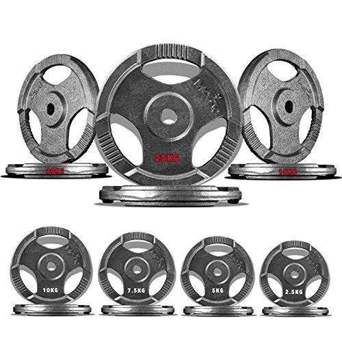 We R Sports Piatti TriGrip Peso Bilanciere Bar Curl Fitness Gym 2,5 kg a 25 kg (15 kg)