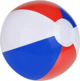 Rhode Island Novelty 12 Inch Patotic Beach Balls Red, White & Blue Pack of 12