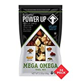 Power Up Trail Mix, Mega Omega Trail Mix, Non-GMO, Vegan, Gluten Free, No Artificial Ingredients, 2.25 Oz Bag, (Pack Of 24)