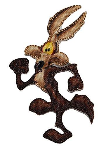 alles-meine.de GmbH Aufnäher - Looney Tunes - Wile E. Karl der Coyote - 5,5 cm * 7,5 cm - Comic Figur - Bügelbild Applikation - Aufbügler - gewebter Flicken - Kojote Looneytunes ..