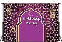 新しい7x5FTアラビアンナイトランプの背景魔法の魔神パーティーの写真の背景モロッコのプリンセスガールベビーシャワーの誕生日の背景ケーキテーブルの装飾写真ブースバナー11-596
