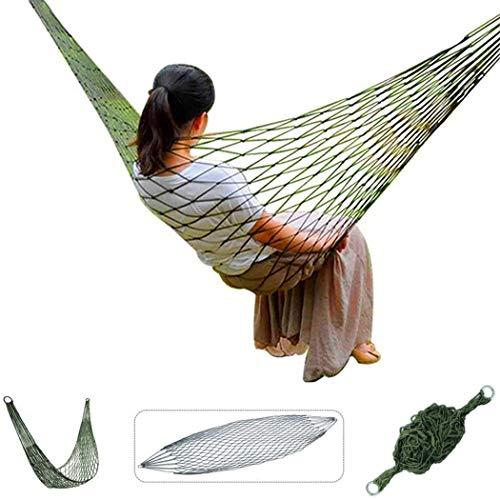 FLM Hamacas HWZP01 – Portátil Nylon Paracaídas Hamaca Multifuncional para Casa, Jardín, Cámping, Al aire libre y De viaje