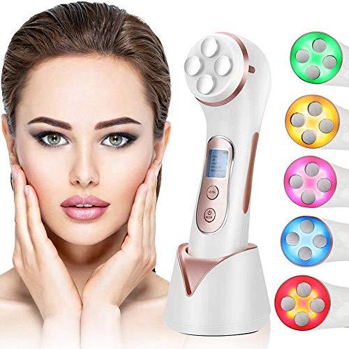Gesichtsmassagegerät 5-in-1-Gerät zur Reduzierung von Falten Hochfrequenz-HF-LED EMS Beauty Machine Lift/Anti-Aging/Hautstraffung/Gesichtsreinigung/Anti-Akne