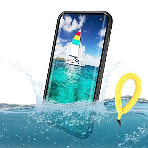 Mijobs Funda Impermeable Galaxy S10,[Anti-rasguños][Protección de 360 Grados],Case Protectora con Protector de Pantalla Incorporado Reemplazo For Samsung S10 Case 6.1Inch 2019 (S10 Black/Clear)