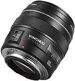 YONGNUO YN100 mm F2 Teleobjetivo mediano 100 mm F/2~F/22 Prime lente de apertura focal fija para Canon EOS Rebel cámara compatible con modo AF MF