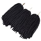 3 Pack Spring Twist Ombre Colors Crochet Braids Synthetic Braiding Hair Extensions Low Temperature Fiber (#2)