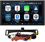 Alpine iLX-W650 7' Mechless Bluetooth Car Receiver Deck and Voxx HD Wide Angle Backup Camera Bundle. Android and iPhone Integration for Android Audio, Apple Car Play, and Streaming Music Apps
