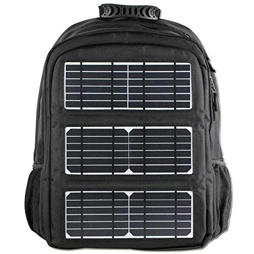 Wandelen Rugzak 45l, Met Solar Telefoon Oplader Outdoor Rugzak Reizen Sport Trekking Rugzak Camping Fietsen Waterdicht Ultralight Militair Zwart