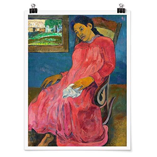 Bilderwelten Poster Cuadro Decoracion de Pared Paul Gauguin - Melancholikerin, Mate 80 x 60cm